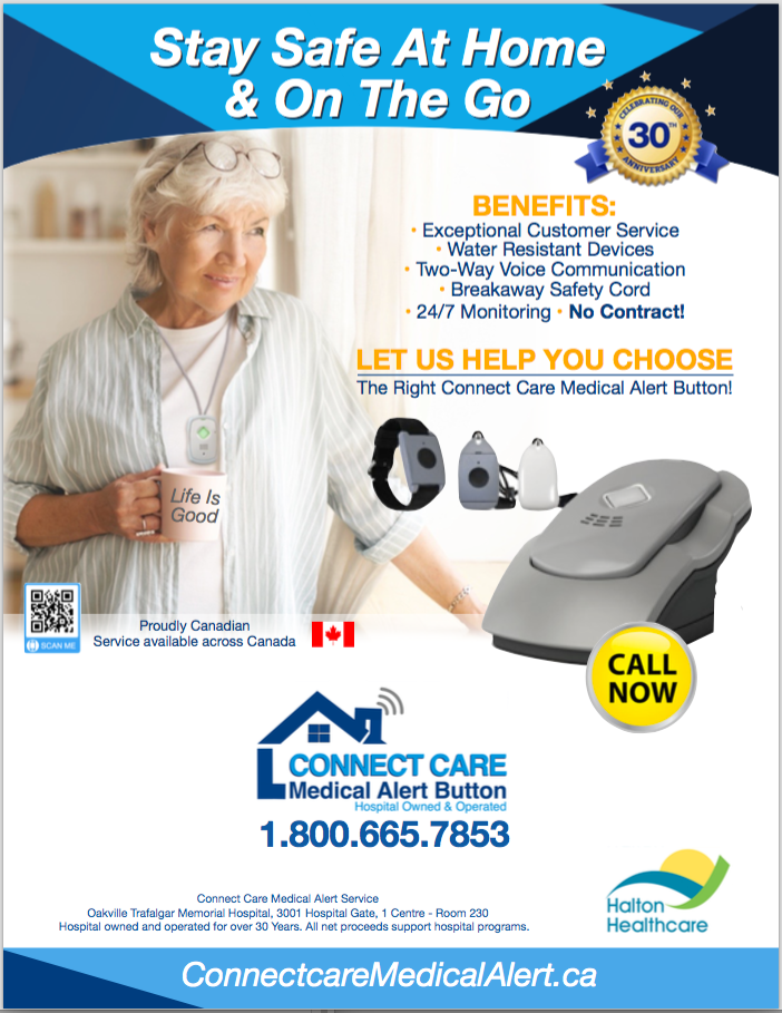 Senior women happy with life and wearing the GPS Safe on the go device Ad.