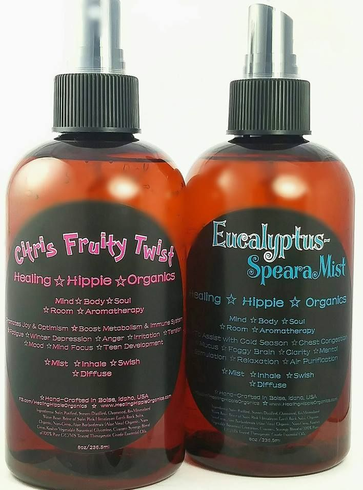 Citrus Fruity Twist, Eucalyptus Spearamist, Healing Hippie Organics, Boise, Idaho, USA