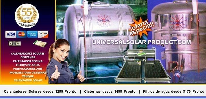 Universal Solar Products, calentadores solares