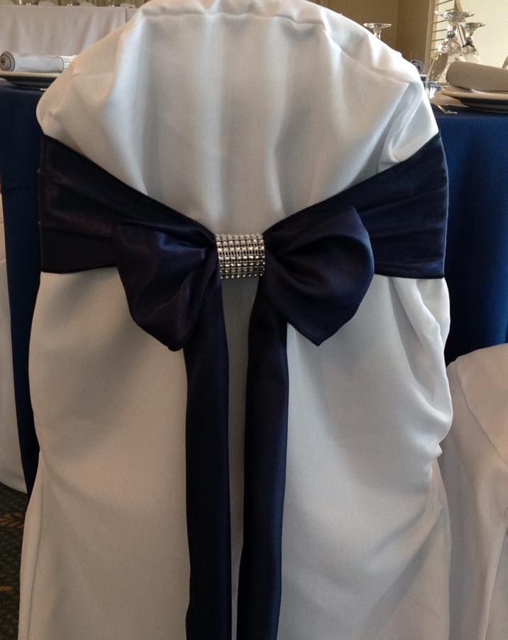 Satin sash with rhinestone wrap