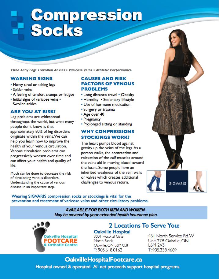 Image of a model wearing compression socks