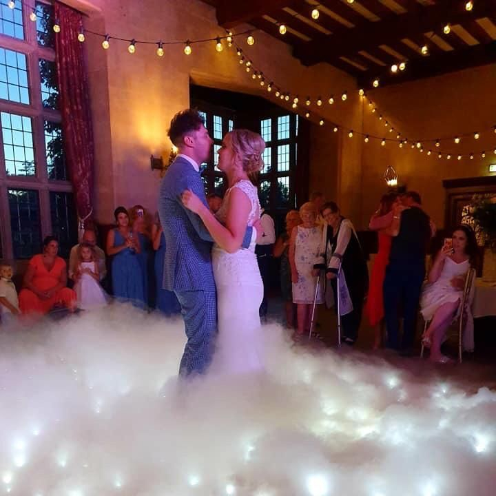 dry ice dancing on the clouds