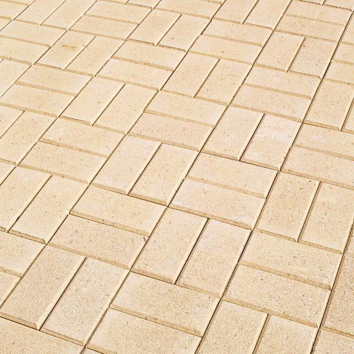 Quadro pavers, paving installation