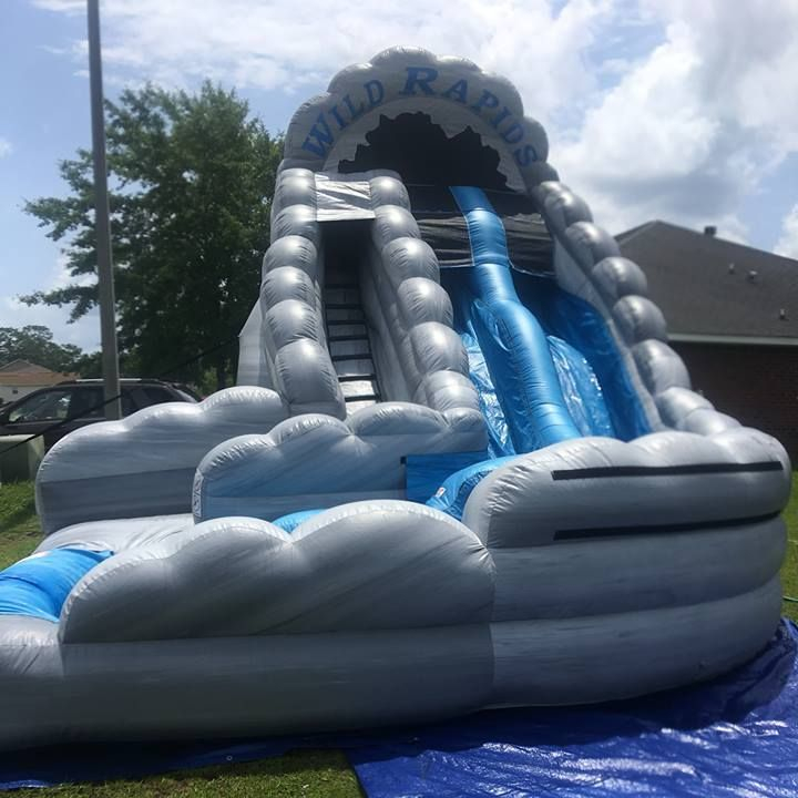 18ft dual lane wild rapids waterslide