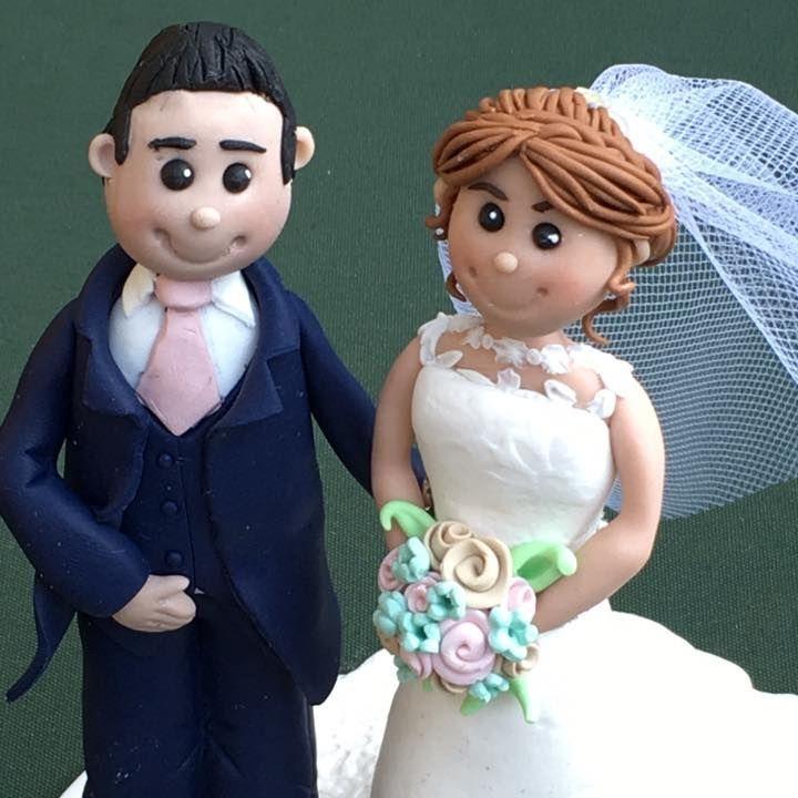 Bride Groom Personlised Family Pet Keepsakes Wedding Clay Topper