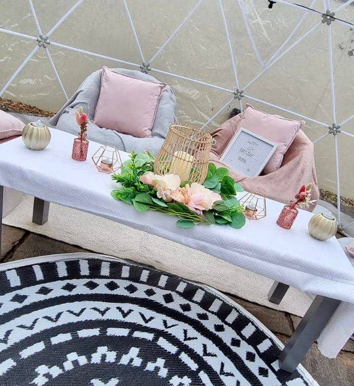 Dining Dome igloo Cornwall