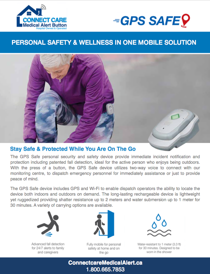 Data Sheet for personal wellness - image of a runner and the GPS Safe device