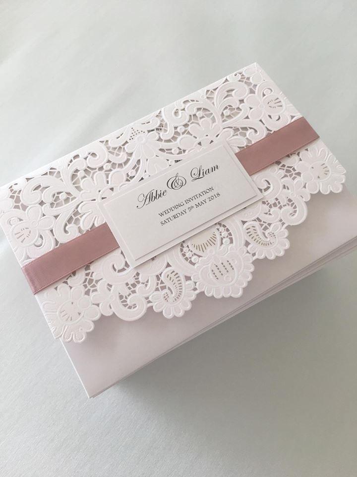 Lace lasercut wedding invitations, wedding invitations