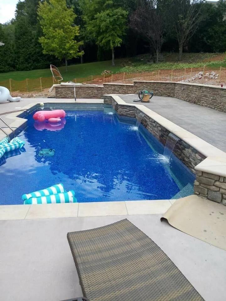 Custom Vinyl Liner Swimming Pool