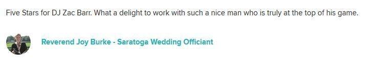 Rev Joy Burke, DJ Zac Barr Weddings, Weddings, Wedding Ceremony