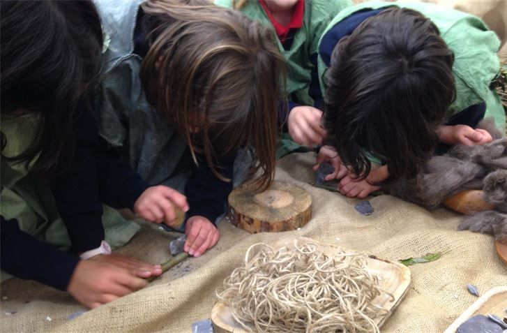 Stone Age workshop for schools ks2 with drama and hands on activities