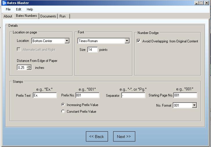 bates numbering software