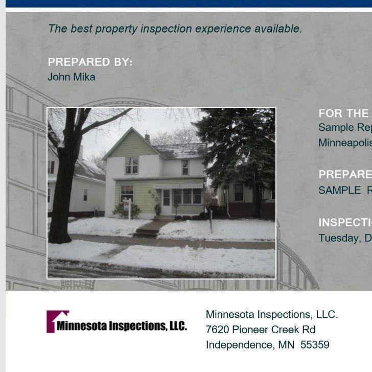 Minnesota Home Inspection Sample Report