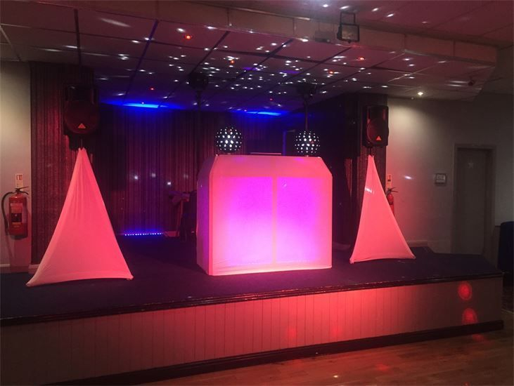 Bronze Package with additional mirror balls at Crosby Conservative Club - Southport DJ - Wedding DJ