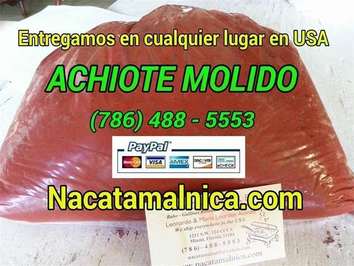 el achiote molido de los nicaraguense para condimentar las comidas
