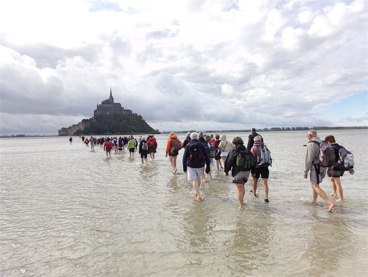 APPROACHING MONT ST MICHEL