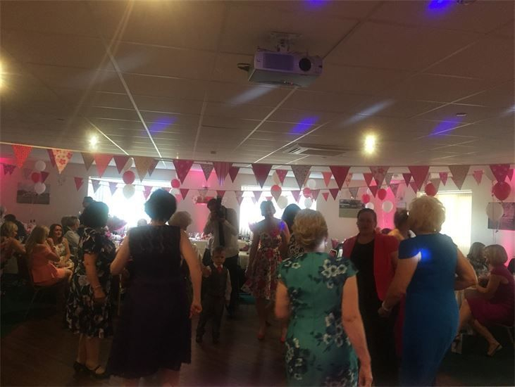 Guests on the dance floor at a Wedding at Hightown Cricket Club  Party, Mobile Disco, Southport, DJ, Wedding, Karaoke, Birthday, Race Night, Event, Glynn Tee