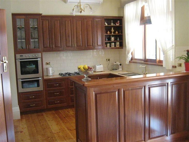 Blackwood Timber Kitchen- Doors annd Benchtops