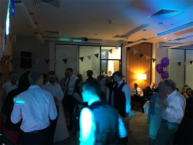 Southport DJ, Glynn Tee, filling the dance floor at 54 St James Street, Liverpool for a Wedding Reception