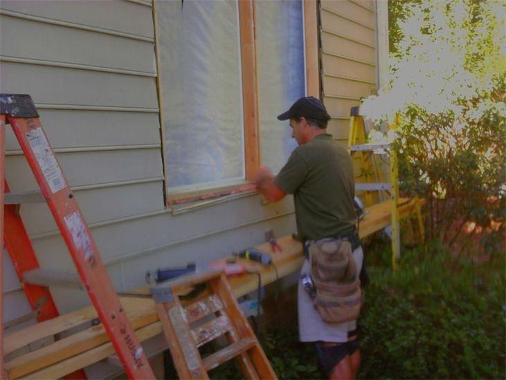 Me doing Handyman Rotted Wood Repair.