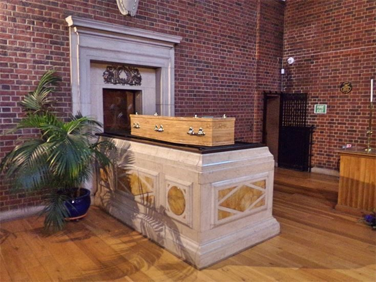 COFFIN - ST MArylebone crematorium