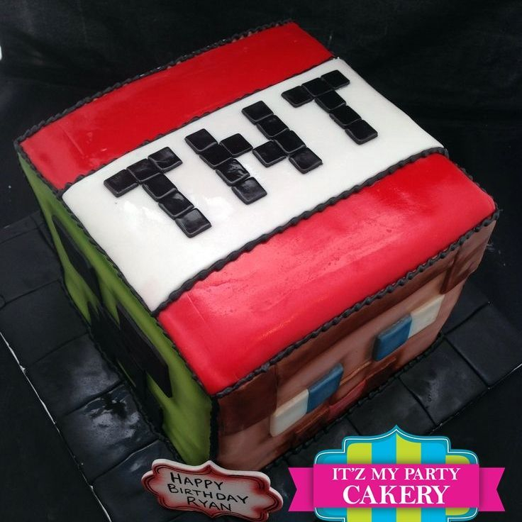 Custom Minecraft Cake Milwaukee