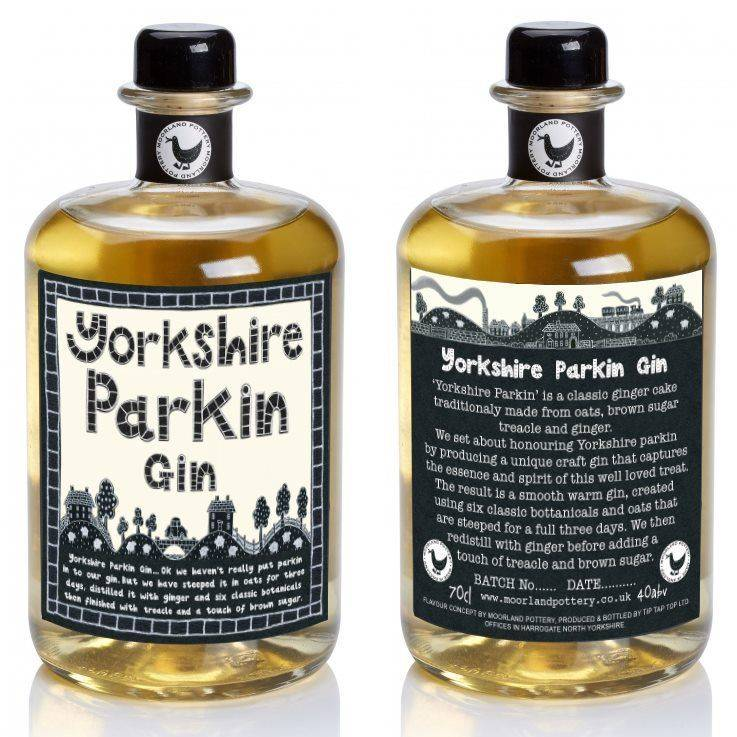 Yorkshire Parkin Gin Spirit Ginger Cake Drink Molasses Brown Sugar Oats
