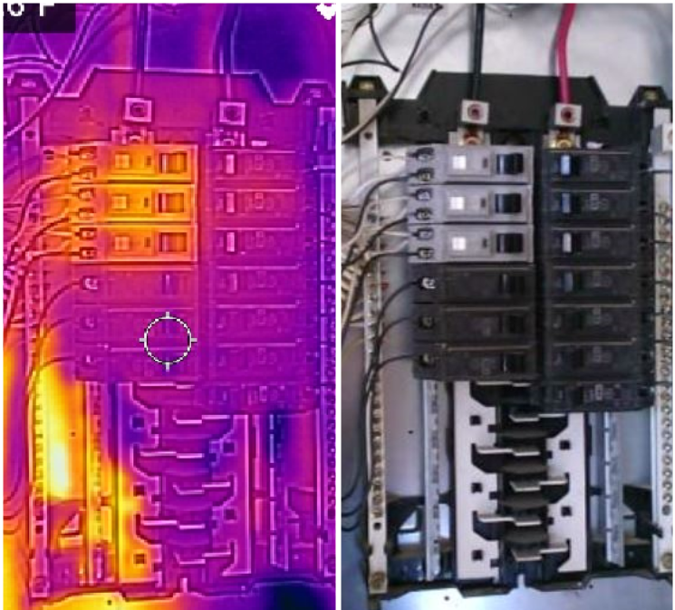 Infrared Scans finds overheating electrical components