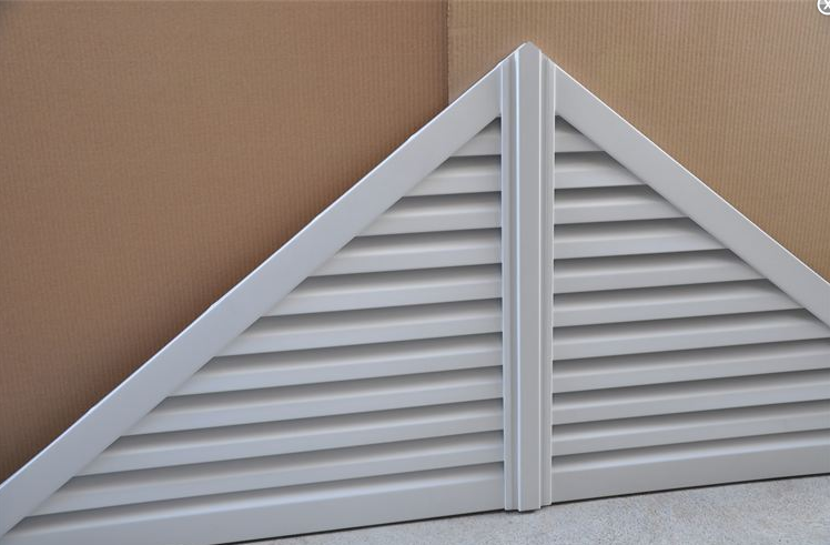 Two piece aluminum triangle gable vent
