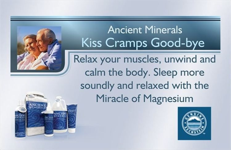 Ancient Minerals Magnesium Oil relax your muscles, unwind and calm you body.