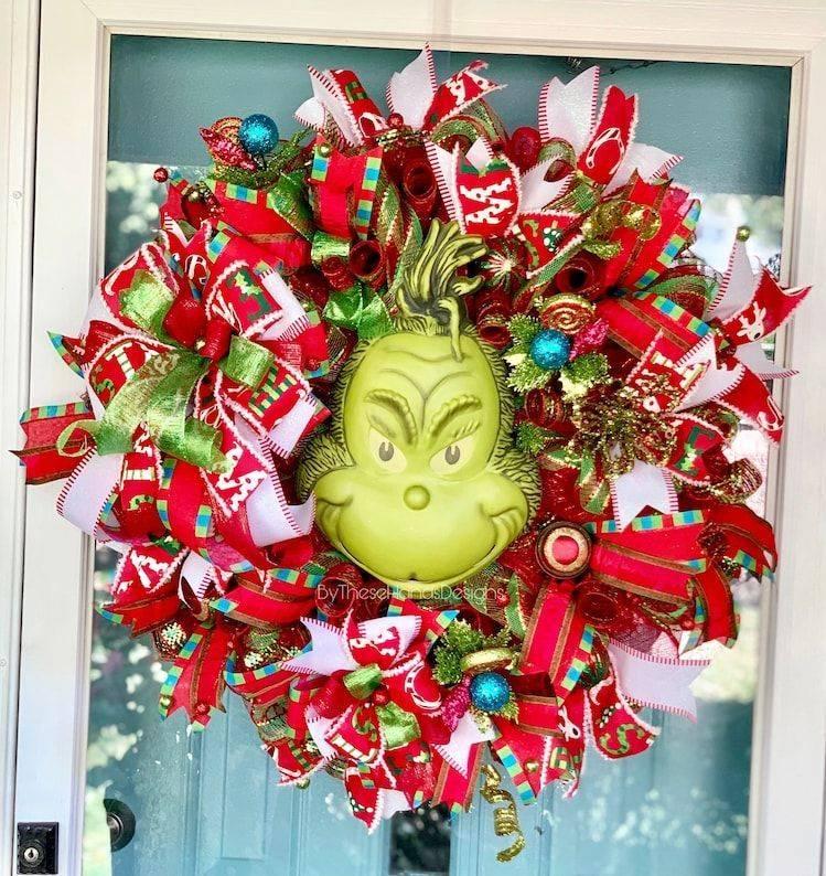 Grinch Christmas Wreath