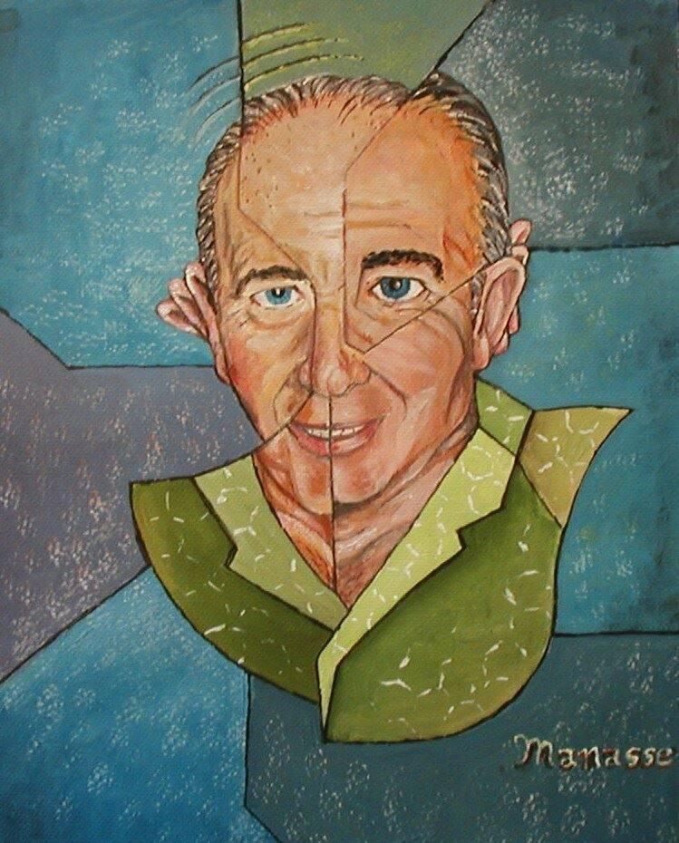 Roger Manasse Portrait by Carol Manasse. Analytical Cubism