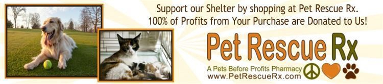 www.PetRescueRx.com, Pet Rescue Rx, select a shelter to support, Precious Paws Rescue, North Tonawanda, NY 14120, 100% of the Profits from your purchases will be donated to Precious Paws Rescue once you select us during checkout