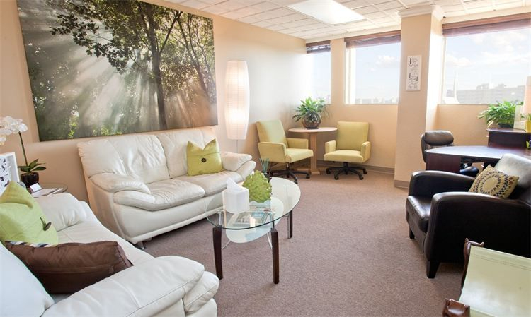 Our green room is a beautiful office that many of our couples and families visit during therapy.