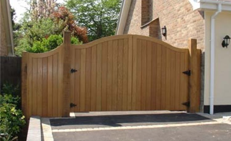 Hardwood gates supplied and fitted.