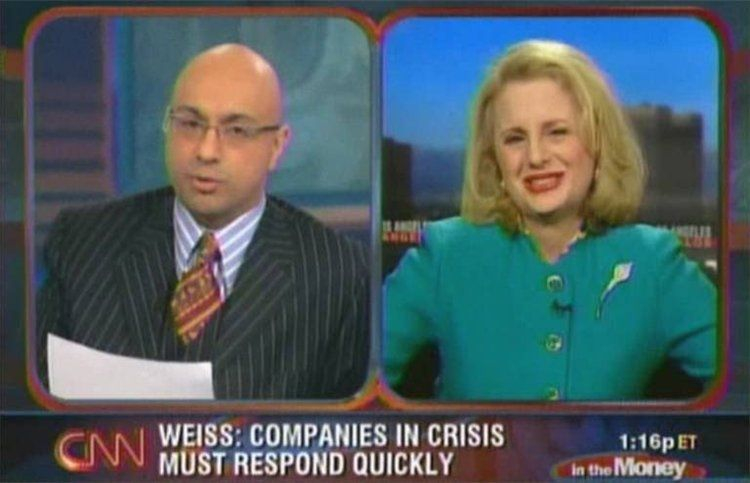 Screenshot of CNN anchor, Ali Velshi, interviewing Rhoda Weiss