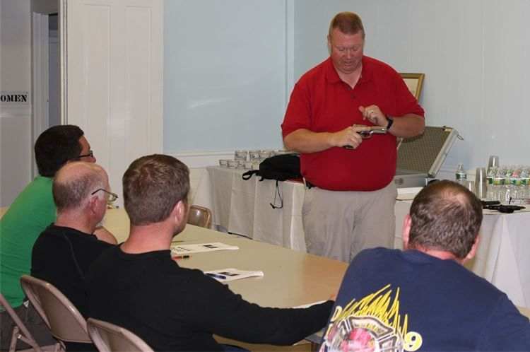 Andy teaching a MA basic firearms safety class for LTC