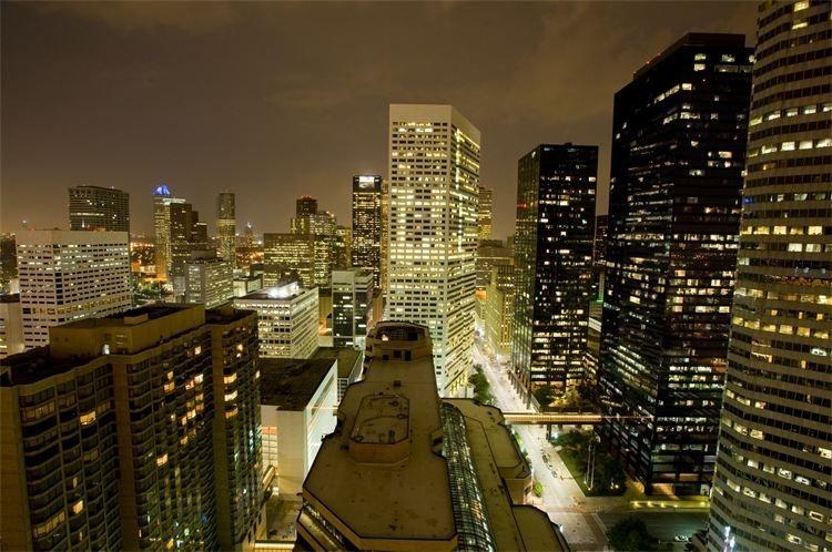 Downtown Houston Views at Night