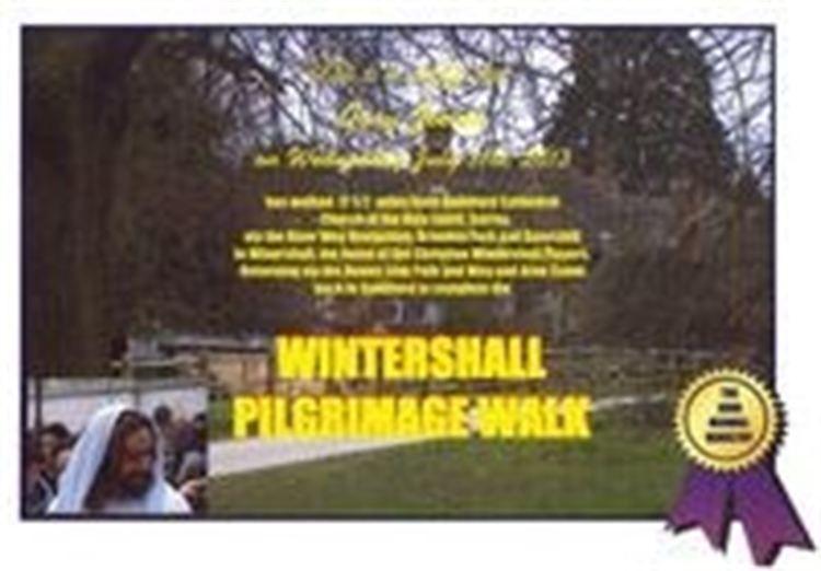 wintershall pilgrimage certificate