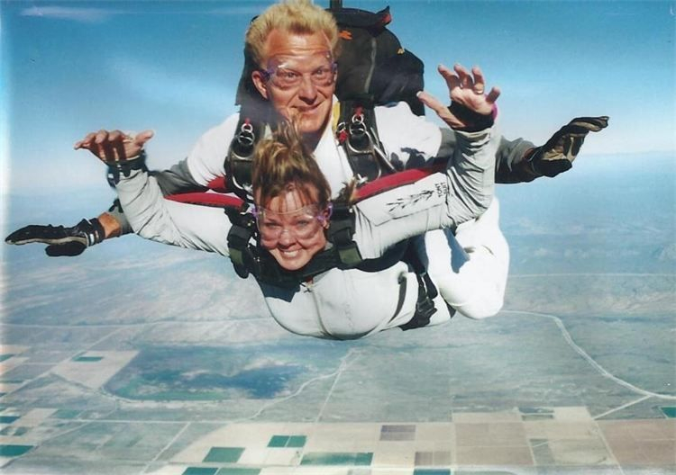 PhyllisAnn skydiving on my 50th Birthday, Reiki is life changing. Looking for Reiki energy healing.