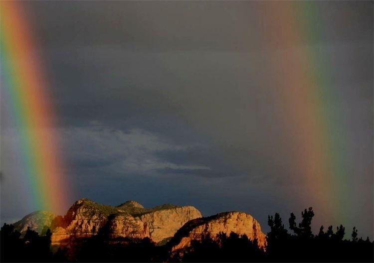 Double Rainbow over Sedona, after Karuna Class 2011