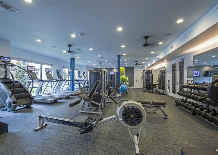 State of the art fitness center with cardio, treadmills,  free weights