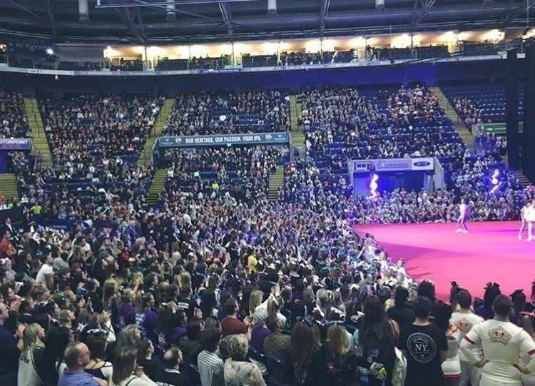 Southport DJ, Glynn Tee, working as Master of Ceremonies at The British National Cheer and Dance Finals at CarPoint Arena, Nottingham