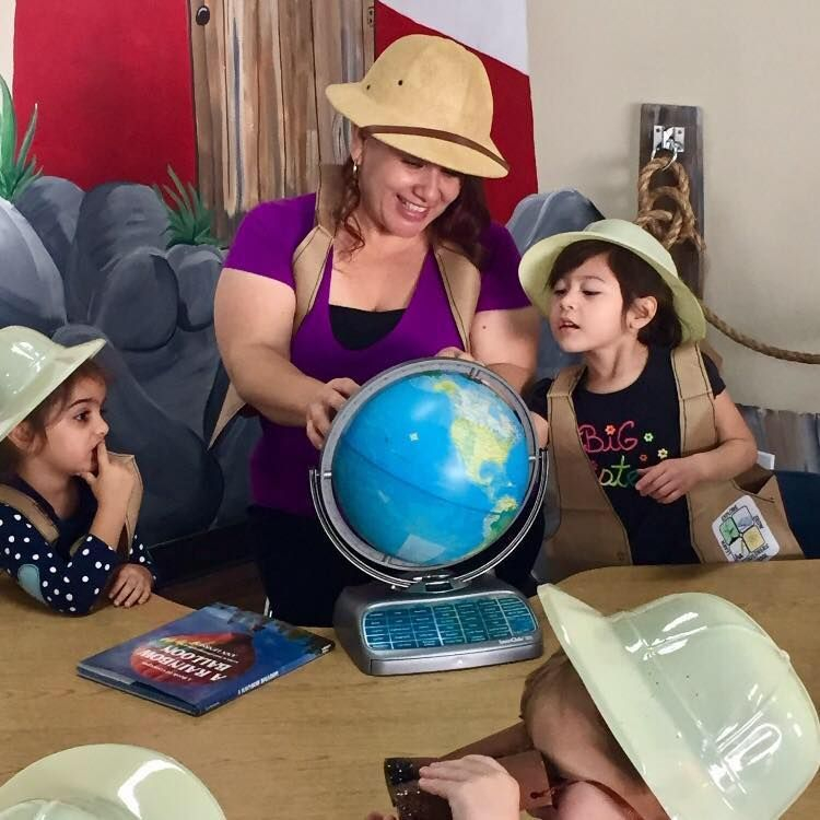 Explorers, teaching, preK, preschool, globe, learning, education, growth, development