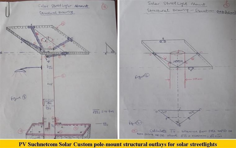 Customized Pole Structure from Suchnetcom Solar
