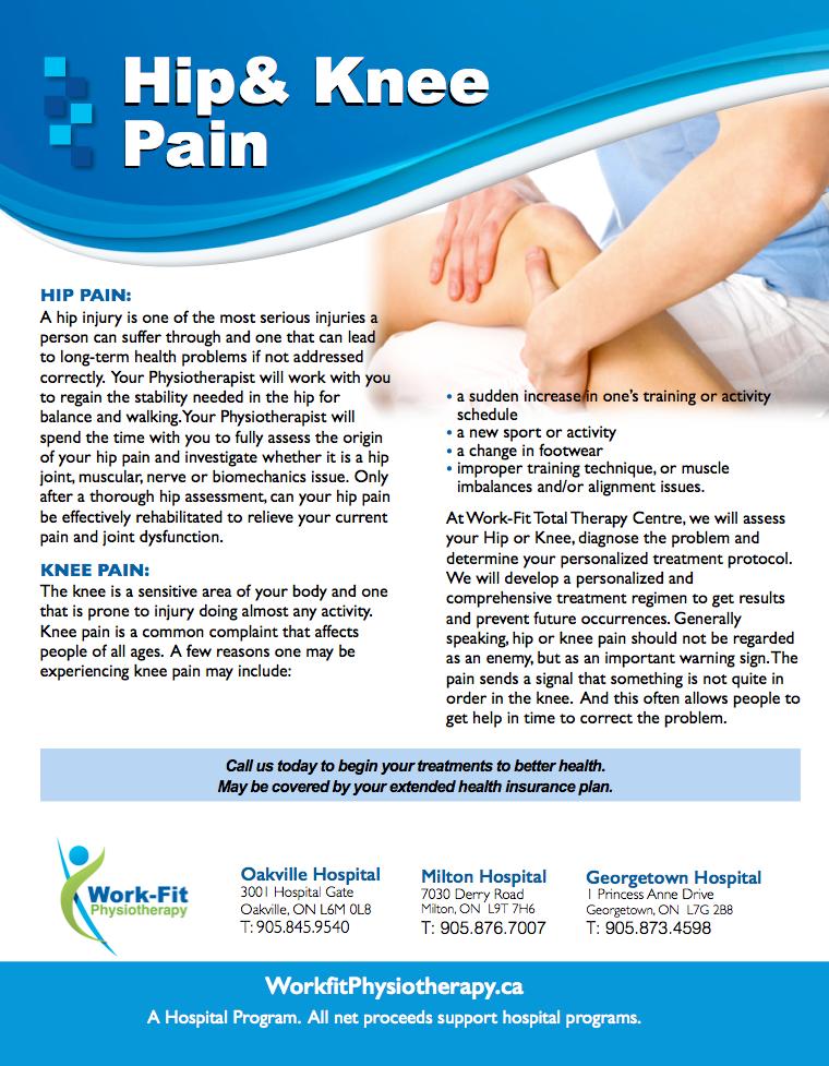 Physiotherapist treating knee pain