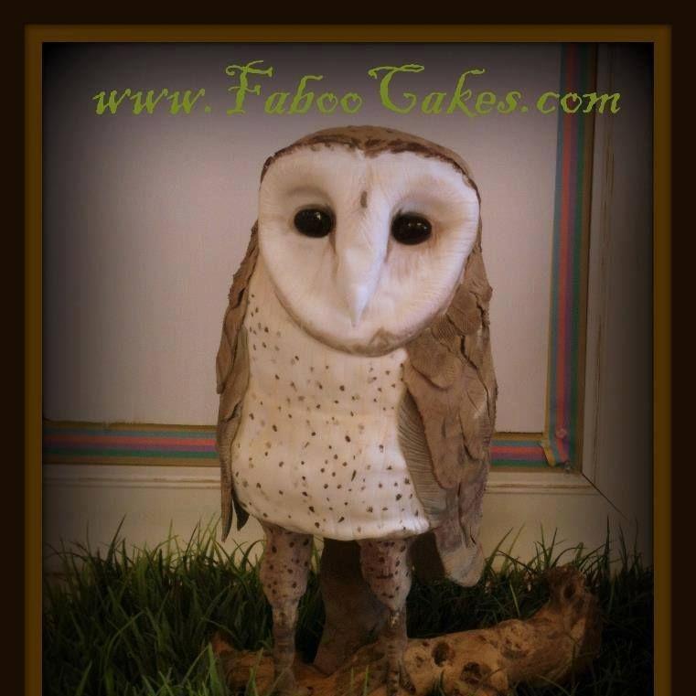 owl  cake carved owl cake lifelike owl cake