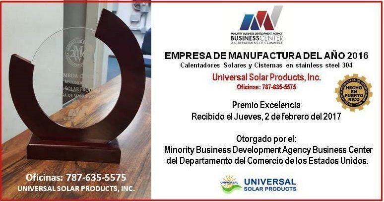 Premio calentador solar y cisterna de agua en Puerto Rico