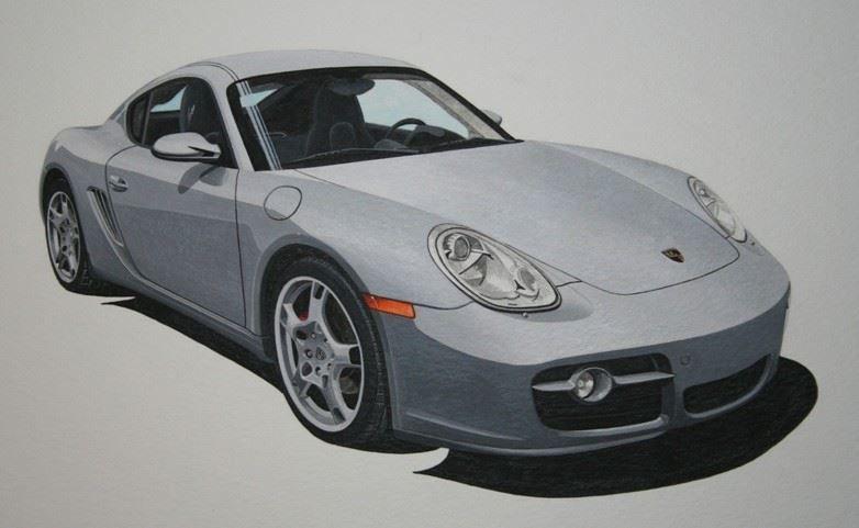Porsche Cayman (Acrylic) : Commission (USA)