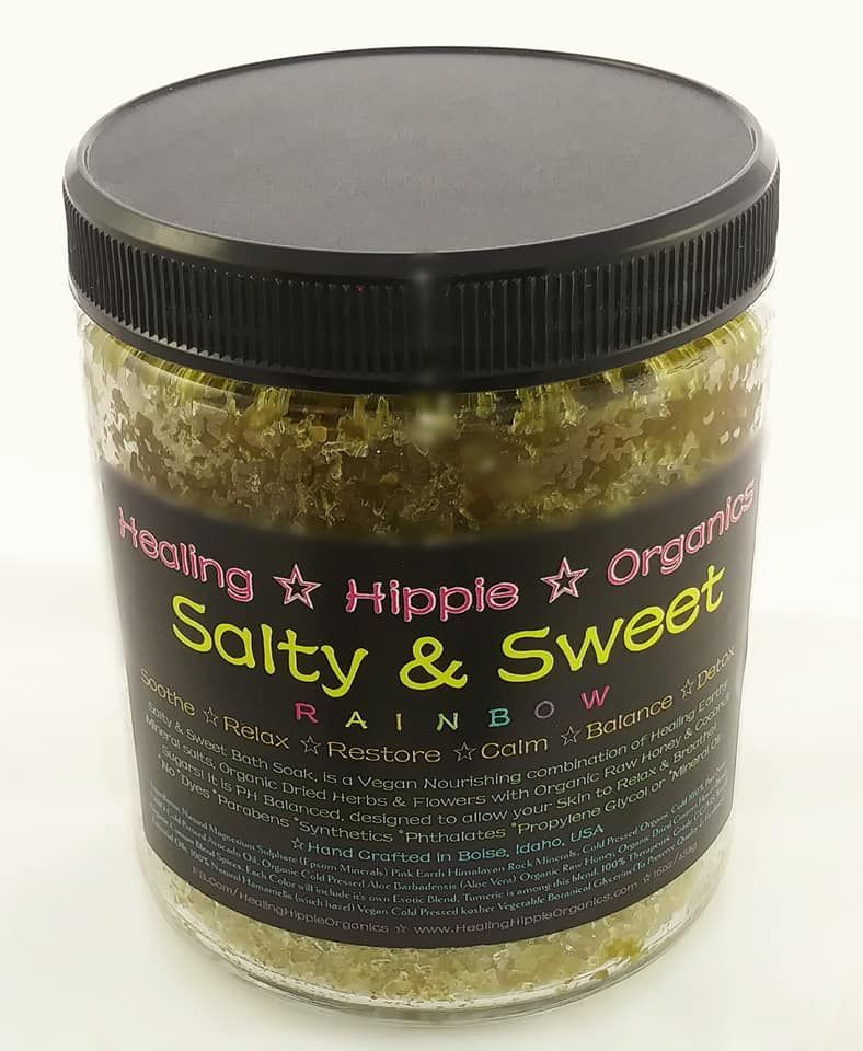 Salty & Sweet Body Scrub, Healing Hippie Organics, Boise, Idaho, USA
